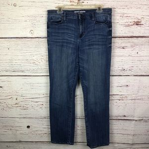 DKNY Jeans Pants SOHO Straight Cut Medium Wash 12